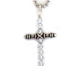 Swarovski Crystal Cross Necklace for Women Teen Girl