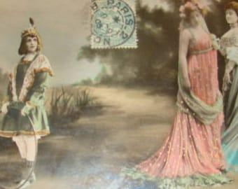 SALE Wonderful Hand Tinted Reutlinger Theater Postcard