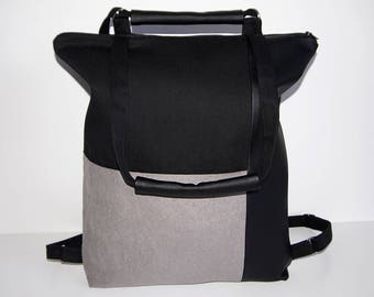 Tote bag  /  Backpack /  Shoulder bag  / Cotton canvas / Imitation leather / Gift /