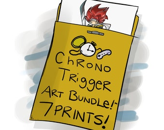 Chrono Trigger Print Bundle (Containing ALL 7 Original Trilogy Prints!)