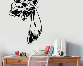 Flash Wall Sticker Vinyl Decal  Comics Superhero Art Decorations for Home Living Room Bedroom Teen Kids Boys Room Decor flh6