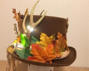 Autumn Antler Brown Tophat