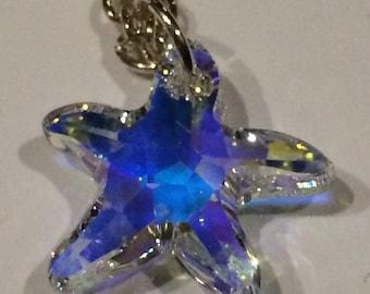 Swarovski starfish silver plated necklace