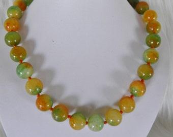 Stunning Chunky, Bold Jade Necklace.