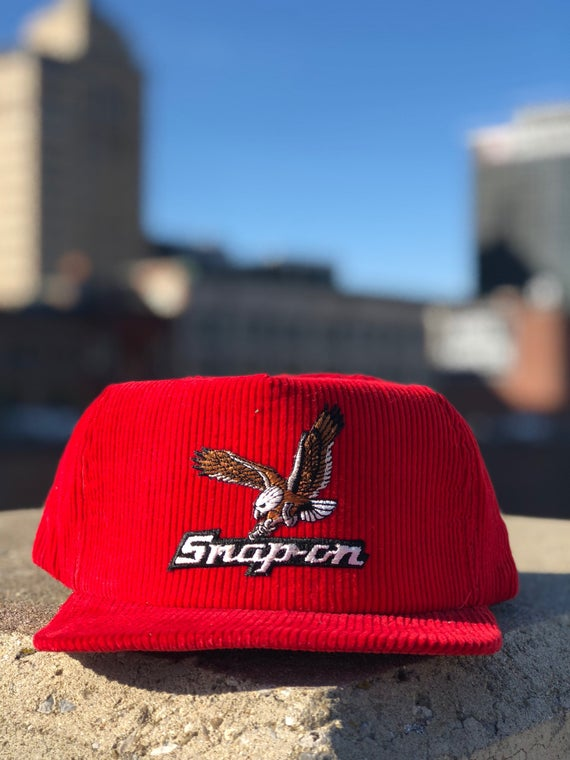 1980s Snap-on Hat New Era Corduroy Snapback hat New