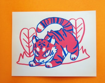 Tiger Art Screen Print