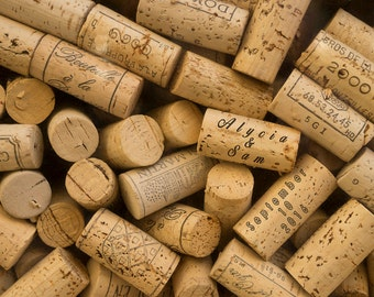 Personalized Wedding Gift Corks Wine Customized Names Dates Photo Anniversary Valentines Day Invitation pp152