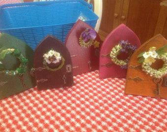 Fairy Door with Flower wreath