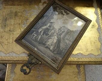 Vintage Shabby Cottage Victorian Hand Mirror