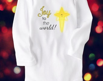 Christmas, Baby Clothes, Unique Baby Clothes, Star of Bethlehem, Christian, Christmas Gift, Christmas clothes, Cute Baby Clothes