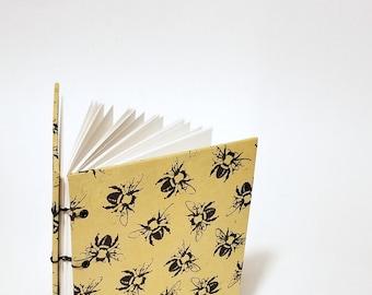 honeybee journal - honeybee notebook - bee journal - bee notebook - yellow and black bee journal - yellow bee journal - yellow notebook -