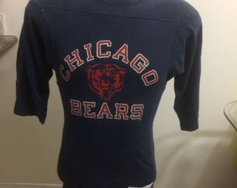 Vintage Chicago bears long sleeve shirt jersey size small Champion