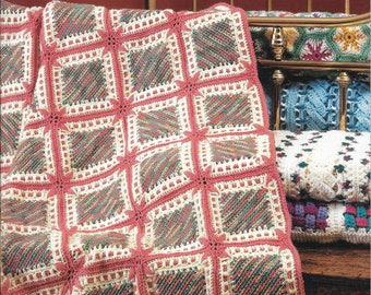 Definitely Different Afghans by Diana Lynn Sippel Crochet Blanket Pattern Book Number 1288 American School of Needlework