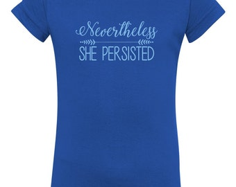 Nevertheless, She Persisted Toddler T-shirt supports ACLU with purchase
