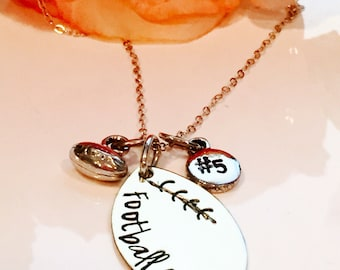 Football Mom necklace Football Charm Necklace Football Necklace