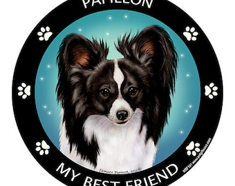 Papillon Black My Best Friend Dog Magnet