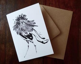 Ruff Bird Greetings Card