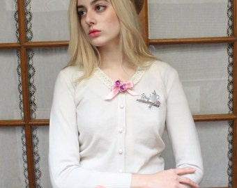 Girly Vintage Stlye Sweet Lolita Cardigan  · Afternoon Tea Collection by Violet Fane