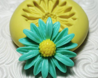 BIG DAISY FLOWER Flexible Silicone Rubber Push Mold for Resin Wax Fondant Polymer Clay Ice 7483