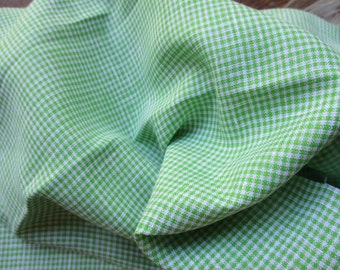 SALE: Lime Green, Small  Gingham Linen