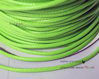 Sale 100 Yards/Roll 2mm Moss Green Wax Cords, Environmental Protection Wax Cords WS211