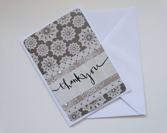 Simple Brown Thank You, A6 Card