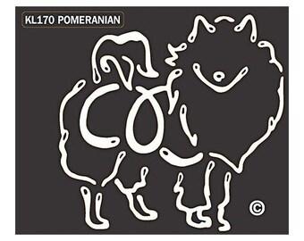 Pomeranian K Lines Dog Car Window Decal Sticker