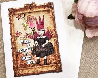 BELIEVE Blank Card •Gift Card•Best Friend Gift• Believe In Yourself A Little More