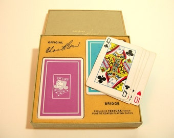 Vintage Boxed Bridge Playing Card Set