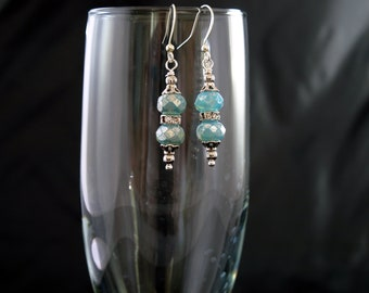Wedding Earrings - Blue Earrings - Special Occasion Earrings - Elegant- Gift for Her - Silver Ear wires and Findings -Mother's Day