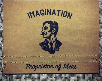 Tim Holtz Imagination Vintage Note Card Mixed Media Handmade