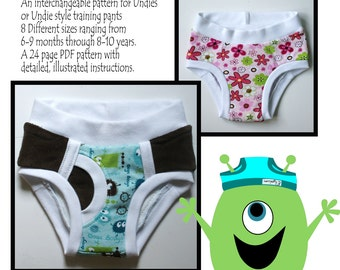 The Underwear Style Training Pants Pattern