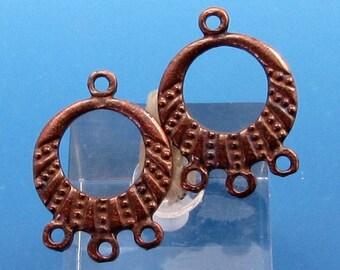 Earring Hoop, Mykonos Casting, Bronze Patina, 2 Pieces, M355