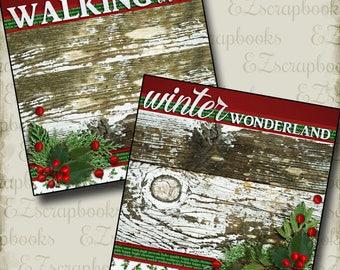 Walking in a WINTER Wonderland NPM - 2 Premade Scrapbook Pages - EZ Layout 2523