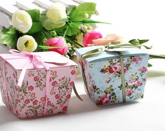 Containing sweets shabby chic, liberty or vintage flowers for wedding, christening, birthday