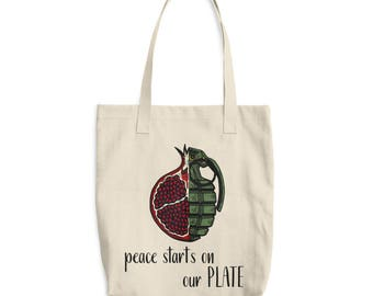 peace starts on our plate tote