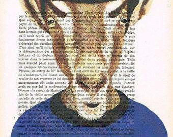 Mister Spock Goat: Print Art Poster Illustration Acrylic Painting Animal Portrait Wall Decor Wall Hanging Wall Art Drawing Glicee Startrek x