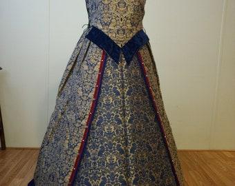 Elizabethan Noble Gown in Designer Fabric