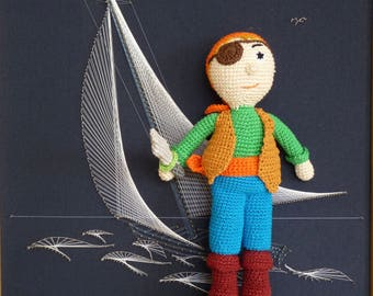 The pirate - doll made in crochet
