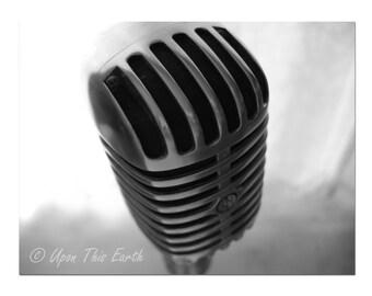 """Vintage Shure Microphone - Elvis - 8.5"""" x 11"""" Fine Art Photograph"""