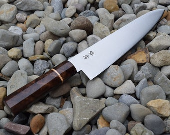 Yahiko VG-10 Custom Chef Knife Handcrafted  Character Walnut with Maple Ferrule Engraved Personalized
