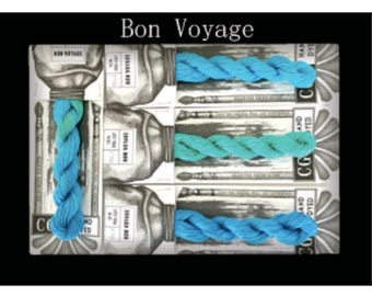 Bon Voyage Cottage Garden Threads Stitchers Palette -CGT- 6 Strand Cotton embroidery thread- Hand Dyed Thread-Quilting Australia