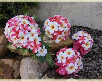 Wedding Bouquet Set - Hawaiian Frangipani Set - Just Paradise