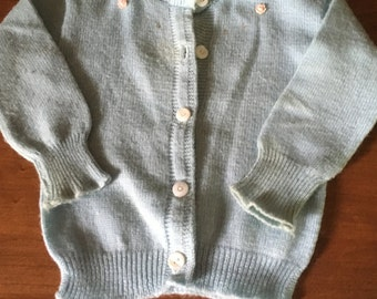 Vintage Baby Sweater with Buttons by Sheepshead Fine Knitware M636-2