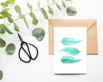 Ferns of Green Greeting Card