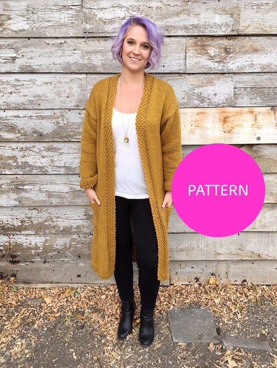 Knit Pattern Only All day Cardigan Knit cardigan cardigan