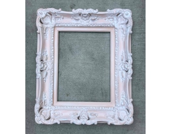 16x20 Shabby Chic Frames, Wedding Gift, Baroque Frame, Frames for Canvas, Large Picture Frame, French Frames, Ornate Frame, Distressed