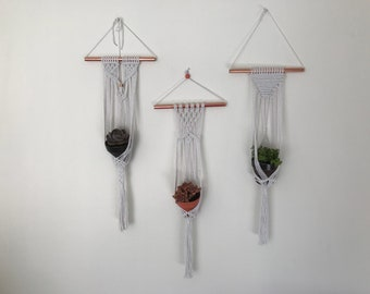 Small Macrame Plant Hangers