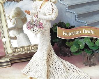 Victorian Bride Barbie Crochet Wedding Dress from Annie's Fashion Doll Crochet Club Designed by Norma Bonk, Lucille Britain NEW PATTERN