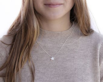 Opal necklace / Star opal necklace / Charm necklace / Birthstone necklace / Gold, Sterling silver chain / Tiny One